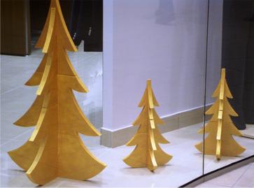 елочки из пенопласта, новогодний декор