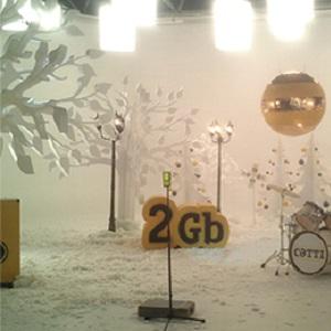 декорации пенопластовые к Новому году