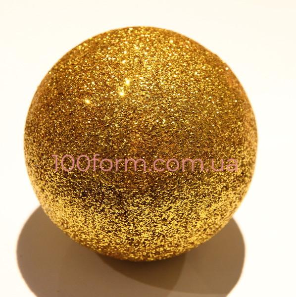 шар из пенопласта золотой