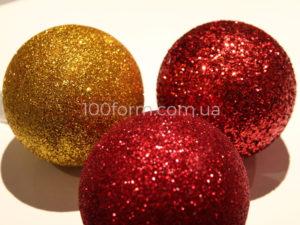 шары новогодние пенопластовые